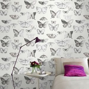 Fresco Butterflies Wallpaper - Taupe by New A-Brend