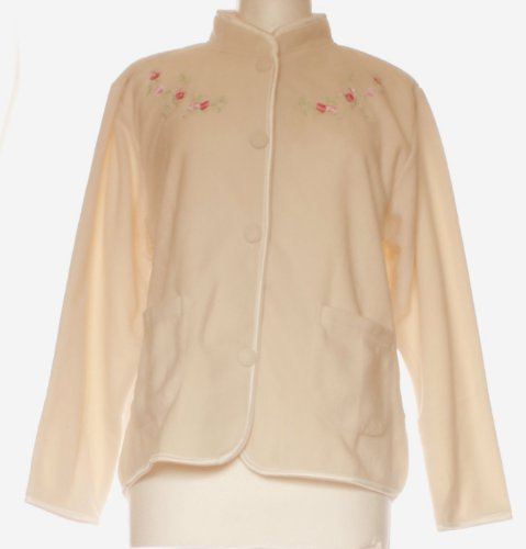 Ladies Embroidered Fleece Bed Jacket Womens Night reading Jacket in Various Sizes and Colours