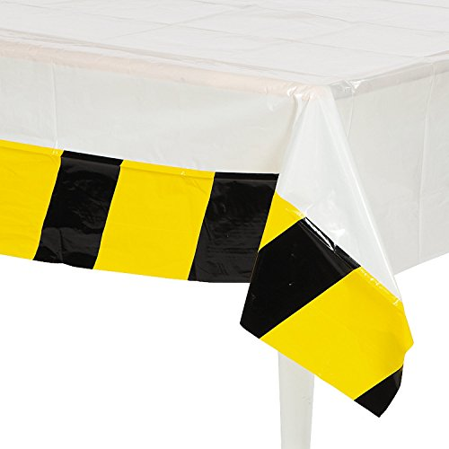 "Construction Party Table Cover - 54"" x 108"" - 1"