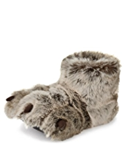 Faux Fur Claw Slippers