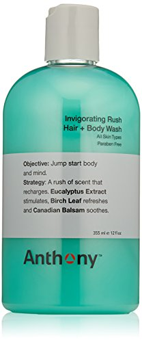 Anthony Invigorating Rush Hair + Body Wash, 12 fl. oz.