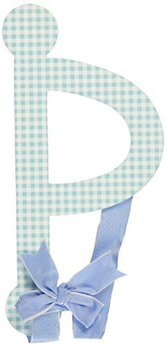 My Baby Sam Lower Case Letter d, Blue Gingham