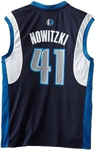 NBA Dallas Mavericks Dirk Nowitzki Alternate Replica Jersey, Blue by adidas