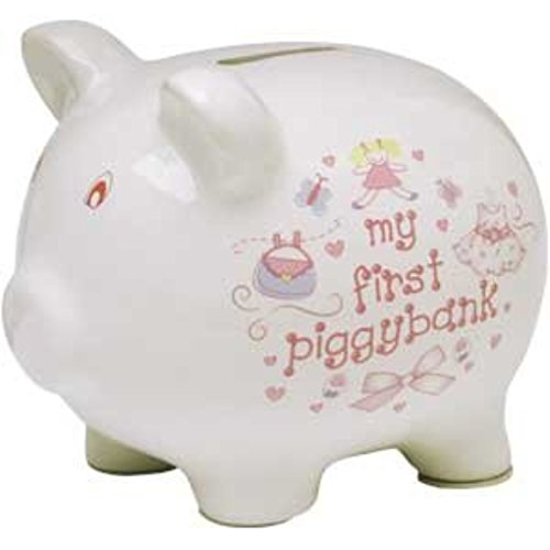 Baby Essentials My First Piggy Bank White with Dress and Pocketbook - 1