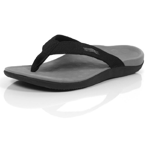 Orthaheel Mens/Womens Wave Sandals (Mens 9 Womens 10, Black)