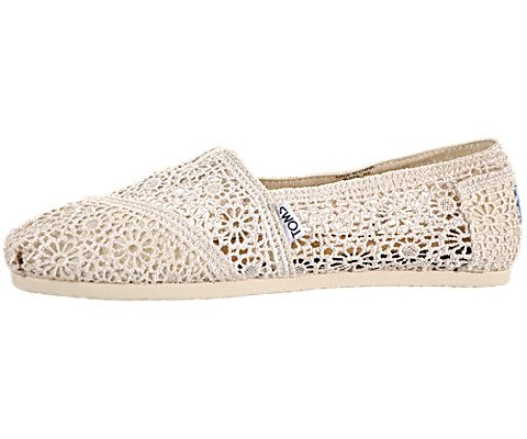Toms Women's Crochet Classics Natural Morocco Casual Shoe