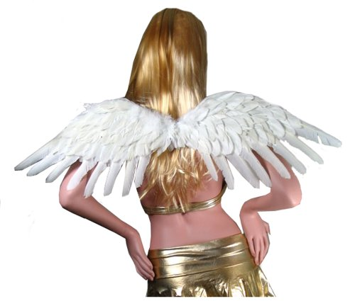 SACAS Large White Feather Angel Wings for women, men and adults