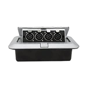 Pop up recessed metal floor box w 4 xlr for Xlr floor box