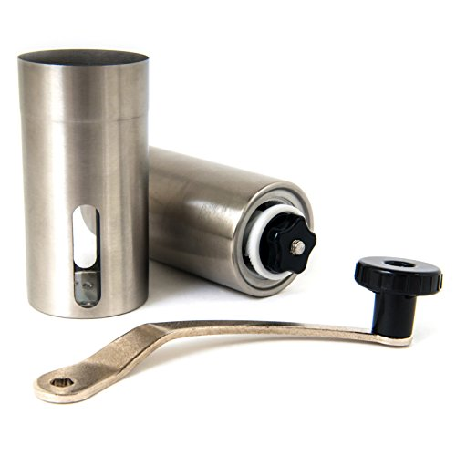F&L Essentials Manual Coffee Grinder | Conical Burr Grinder | Stainless Coffee Mill