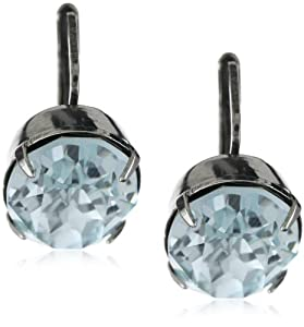 "Sorrelli ""Running Water"" Oval Drop Silver-Tone Earrings"