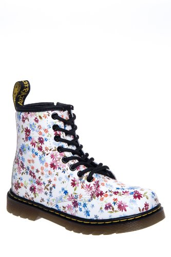 Dr. Martens Kid's Delaney Little Flowers Combat Boot