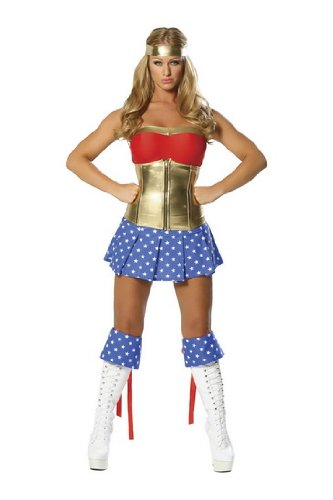 Sexy Justice League Wonder Woman Womens Costume Outfit