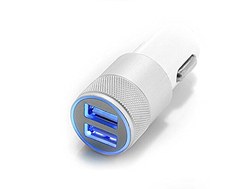 Vafru 2 Port 3.1A USB Car Charger for Cell Phone, Tablet & Other USB Electronic Devices – White