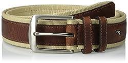 Nautica Men's 35mm Canvas Belt, Khaki, 44