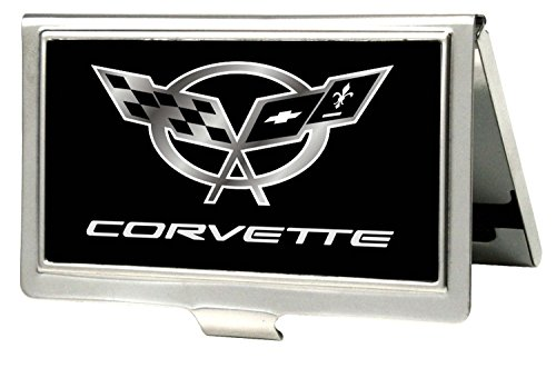 chevrolet-corvette-logo-black-silver-metal-multi-use-wallet-business-card-holder-by-bd