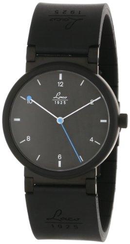 Laco 1925 - Reloj analógico automático unisex con correa de caucho, color negro