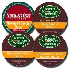 Green Mountain Decaf Varity Coffee Sampler 4 Boxes of 22 K-Cups