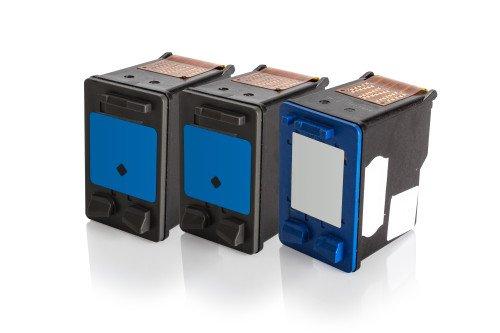 Inkadoo® Tinte passend für HP DeskJet D 2360 ersetzt HP Nr 21 & Nr 22 SD400AE - 3x Premium Drucker-Patrone Kompatibel - Schwarz, Cyan, Magenta, Gelb - 2 x 20 & 1 x 18 ml