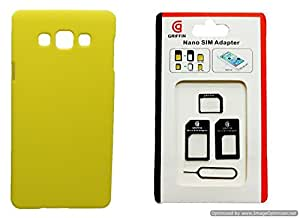 Toppings Hard Case Cover With Sim Adapter For Samsung Galaxy On5 - Yellow
