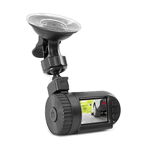 Pyle Compact HD Dash Cam, Hi-Res 1080p DVR Video Recording, Image Capture, LCD Display, Micro SD Card Slot, Windshield Mount