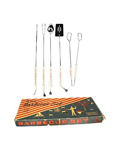Uptown Down Vintage BBQ Set, Black/Red/Silver As You See