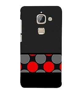 Black Red Dotted Art 3D Hard Polycarbonate Designer Back Case Cover for LeEco Le Max 2 :: LeTV Max 2