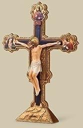 Renaissance Collection Joseph\'s Studio Exclusive The Ognissanti All Saints Tabletop Crucifix Freestands Cross, 10.5-Inch