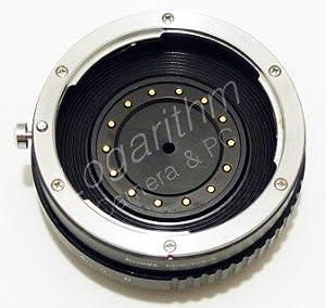 Kernel キャノンEFマウントレンズ-マイクロフォーサーズマウントアダプター (絞り調整対応)【ネットショップ ロガリズム】EF-m43 AA