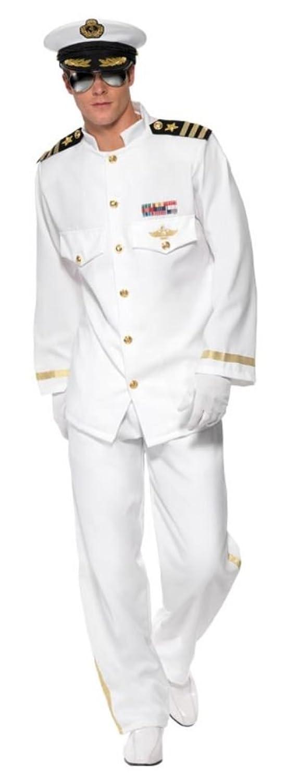 Smiffy s Men s Captain Deluxe  Yacht Captain Uniform