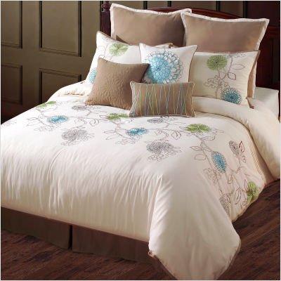 Spring Flower Comforter Set Size: Queen