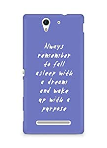 AMEZ always remember to fall asleep with a dream Back Cover For Sony Xperia C3 D2502