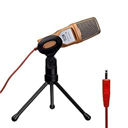 Tonor Gold Professional Condenser Sound Podcast Studio Microphone For PC Laptop Computer