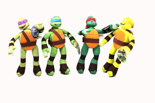 4 Piece Teenage Mutant Ninja Turtle Stuffed Plush Toys back-1065056