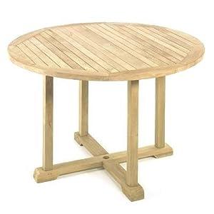 Gartentisch teaktisch memphis rund mit kreuzgestell 120 cm - Gartentisch rund 120 ...