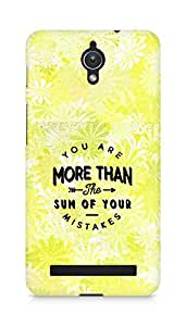 AMEZ you are more than the sum of your mistakes Back Cover For Asus Zenfone C ZC451CG