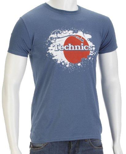 Technics Japan Music-And-Film Mens T-Shirt Denim Blue Small