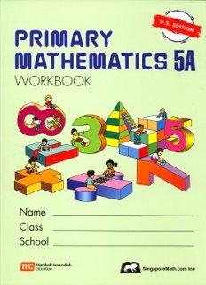 Primary Mathematics 5a: Us Edition  PMUSW5A (Primary...