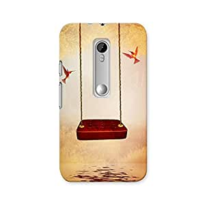ArtzFolio Red Hammock And Hummingbird : Motorola Moto G3 Matte Polycarbonate ORIGINAL BRANDED Mobile Cell Phone Protective BACK CASE COVER Protector : BEST DESIGNER Hard Shockproof Scratch-Proof Accessories
