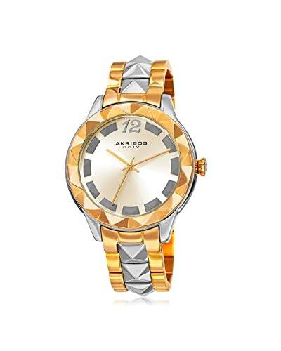 Akribos XXIV Women's AK836TTG Rose-Tone/Gold Stainless Steel Watch