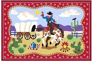 Ride 'em OLIVE KIDS 39 x 58 Area Rug