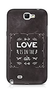 Amez Love is in the Air Back Cover For Samsung Galaxy Note 2 N7100