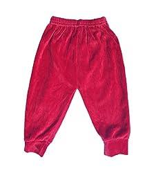 Upside Down Velvet Pants( SPMAROON_Maroon12-18 Months)