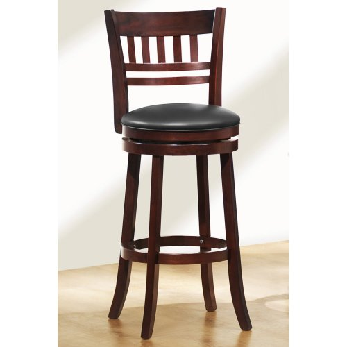 Homelegance 1140E-29S Swivel Pub Height Chair/Stool, Dark Cherry front-1006938