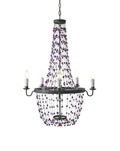 Home Philosophy Amethyst Crystal Chandelier, Amethyst