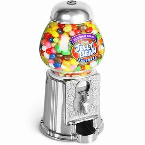Jellybean Machine including 600g of Jellybeans | Sweet Machine, Vending Machine, Candy Dispenser, Jelly Bean, Use with or without coins