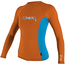 O%27Neill O'Neill Wetsuits UV Sun Protection Girls Skins Long Sleeve Crew Rashguard