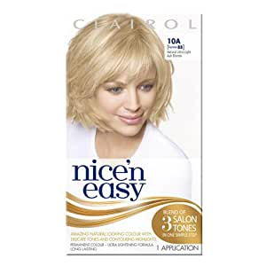 Nice'n Easy Permanent Hair Colour - Natural Ultra Light Ash Blonde (No. 10A, Former Shade No. 88)