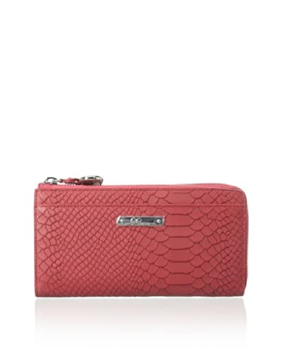 GiGi New York Women's Wallet with Phone Case, Coral