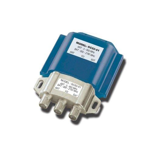 HD-Line GC02-01 Coupleur Découpleur TV/SAT intérieur/extérieur Bleu