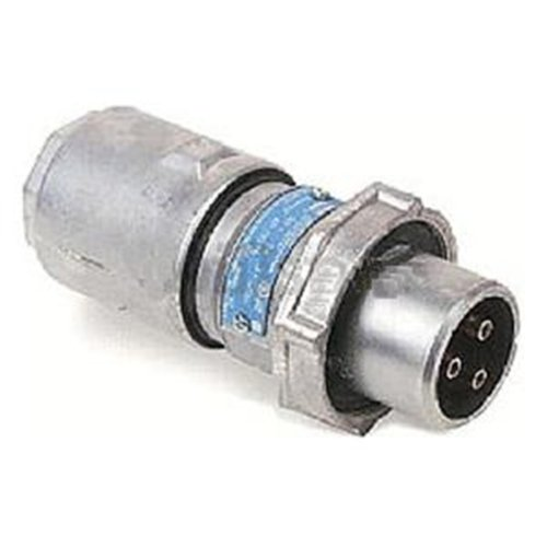 Crouse-Hinds Apj3485 3-Wire/4-Pole Arktite Heavy-Duty 30 Amp Circuit Breaking Plug With Cable Grip And Neoprene Bushing